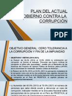 Plan Del Actual Gobierno Contra La Corrupciòn