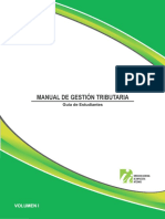 Manual de Gestion Tributaria, Guía Para Estudiante Vol. 1