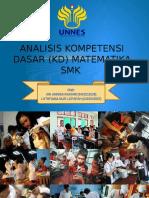 Analisis Kompetensi Dasar (KD) Matematika SMK