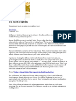 16 Rich Habits