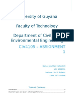 CIV4105 - Assignment 1