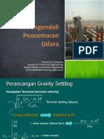 Alat Pengendali Gravity Setlling Design