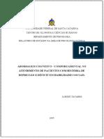 ⭐ABORDAGEM COGNITIVO - COMPORTAMENTAL NO ATENDIMENTO DE PACIENTES COM HISTÓRIA DE DEPRESSÃO E DÉFICIT EM HABILIDADES SOCIAIS_