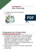 Programación de La Producción - II