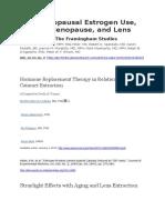 Postmenopausal Estrogen Use