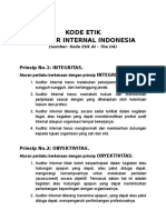 Kode Etik Auditor Intern the Iia Indonesia