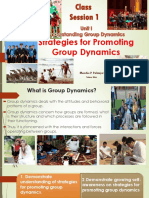CS 1 Strategies for Promoting Group Dynamics 2