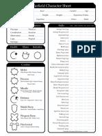 Warfield Charcter Sheet