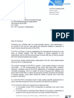 """Ed Miliband to Dr Pachauri regarding """"recent issues"""""""