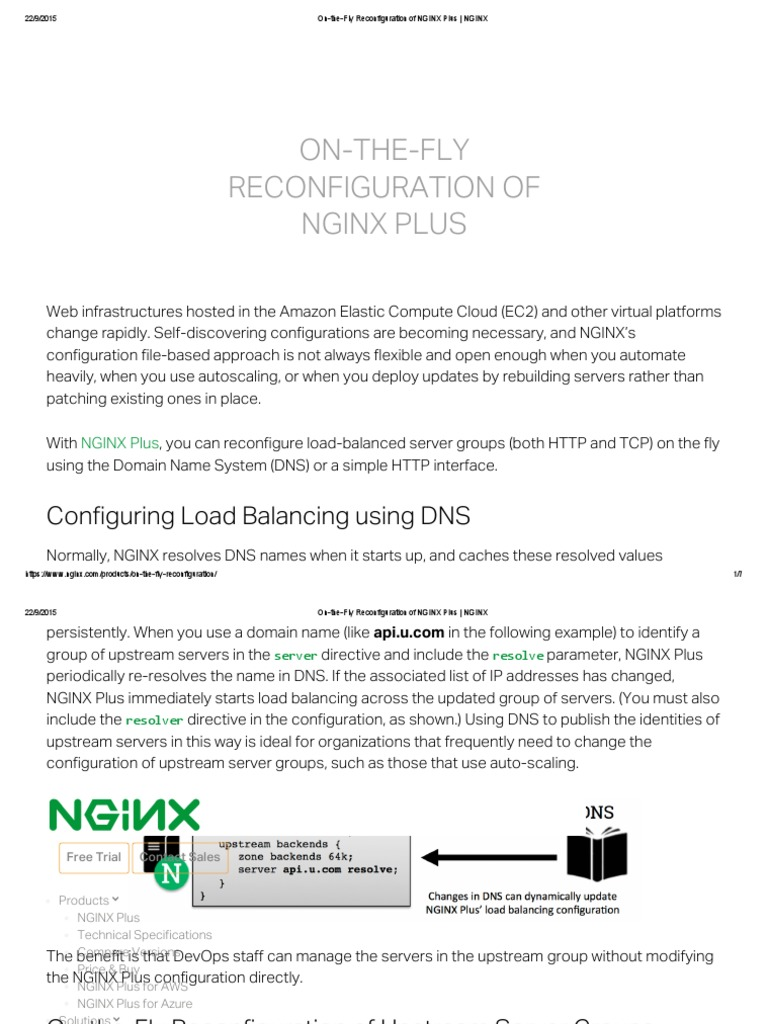 On-The-Fly Reconfiguration of NGINX Plus _ NGINX   Domain