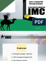 Creative IMC Message Strategies