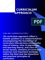 Curriculum Approacch