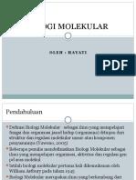 Lec 1 Pengantar Biomol