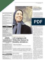 ex100612 entrevista a maryam rajavi, presidenta del consejo nacional de resistencia iraní