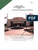 Bush Archive Report