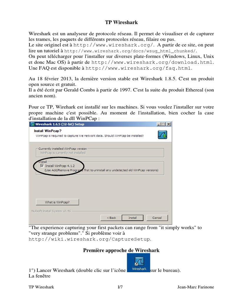 WINPCAP GRATUITEMENT TÉLÉCHARGER 3.1