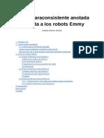 Lógica Paraconsistente Anotada en Los Robots Emmy