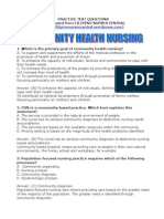 Community Health Nursing II
