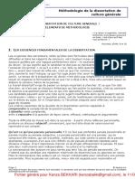 Dissertation Méthodologie