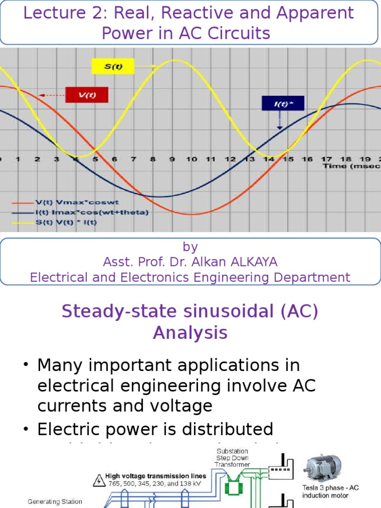 Eem337 Lecture 2 Ac Power Analysis Aa Electrical Impedance 12 Parallel Circuits
