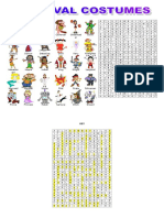 Carnival Costumes Wordsearch Puzzle