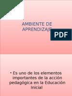Ambiente de Aprendizaje.ppt Julio 2010