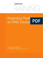 4. Filesystems and Storage Assembling Partitions as RAID Devices