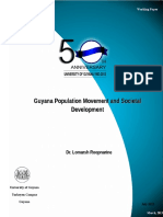 Guyana Population Movement and Societal Development 2