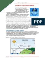El Cambio Climático y Los Recursos Hídricos
