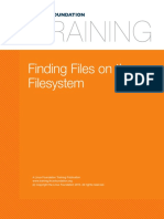 7. Filesystems and Storage Finding Files on the Filesystem