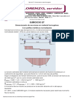 Ejercicio 27 - Dimensionado en Material Homogéneo