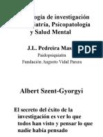 Metodologia de Investigacion en Psiquiatria Psicopatologia y Salud Mental