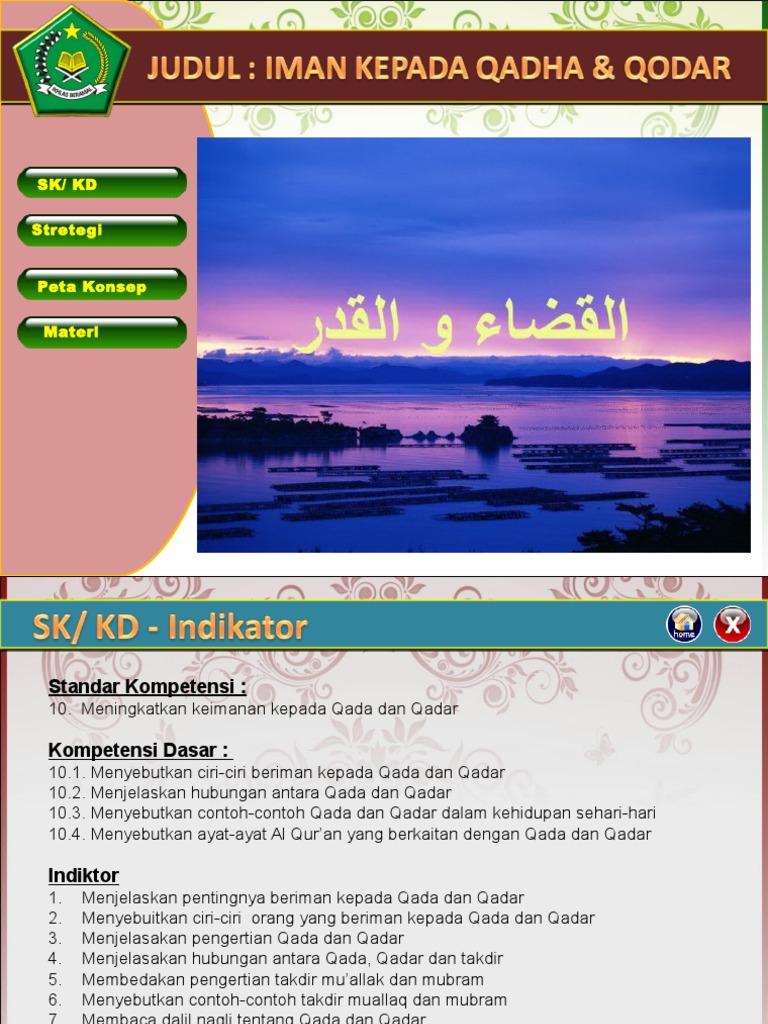 9210 Iman Kepada Qada Dan Qadar