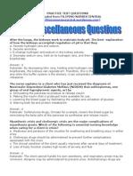 NCLEX Miscellaneous Questions