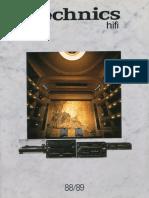 Catalog Technics Hifi 1988-89 De