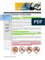 Issue No 26 - Hardness Testing Pitfalls