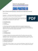 Nursing Practice III