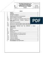 Criterios Funcionales de Protecciones Mt