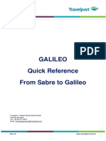 From Sabre to Galileo