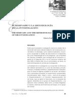 El Seminario y La Metodología de La Investigación - María Isable Núñez