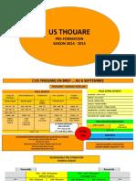 Projet Pré Fo 2014 2015 U12 U13