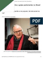 Boaventura_ Contra o Golpe Parlamentar No Brasil – Blog Da Boitempo