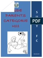Guide Parents Categorie u11