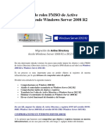 Migración de Roles FMSO de Active Directory Desde Windows Server 2008 R2 a 2012 R2