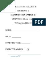 Mensuration Paper 1