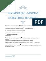 MathsB P1 Mock-3