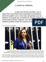 Violência Política Contra as Mulheres – Blog Da Boitempo