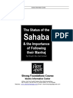 The Status of the Sahaba and the Importance of Following Their Manhaj