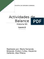 Actividades de Balance