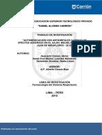 Automedicación Con Antigripales y Riesgo de Efectos Adversos en El AAHH Micaela Bastidas - San Juan de Miraflores - 2015